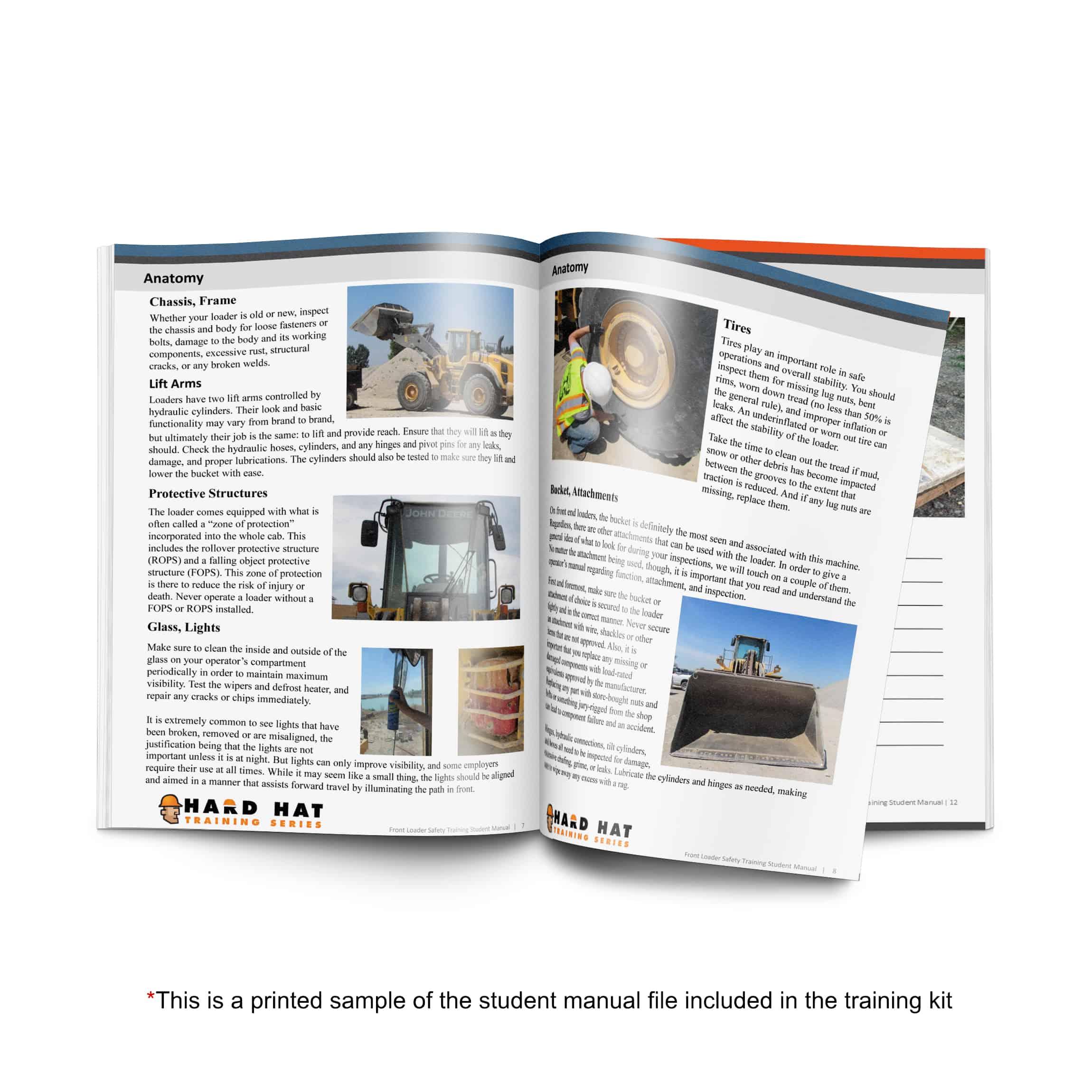 front loader safety manual