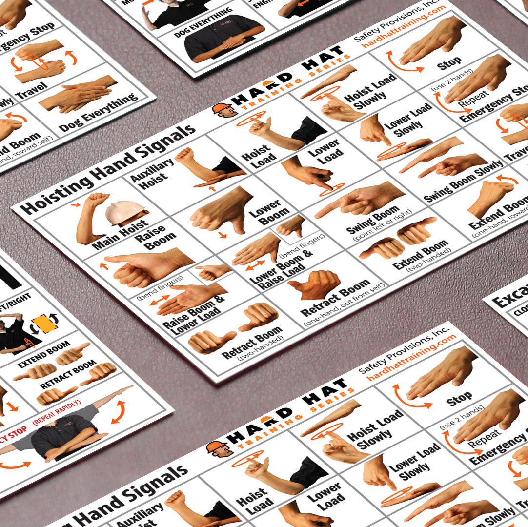 hand signal cards from Hard Hat Training