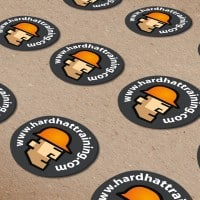 hard hat training stickers