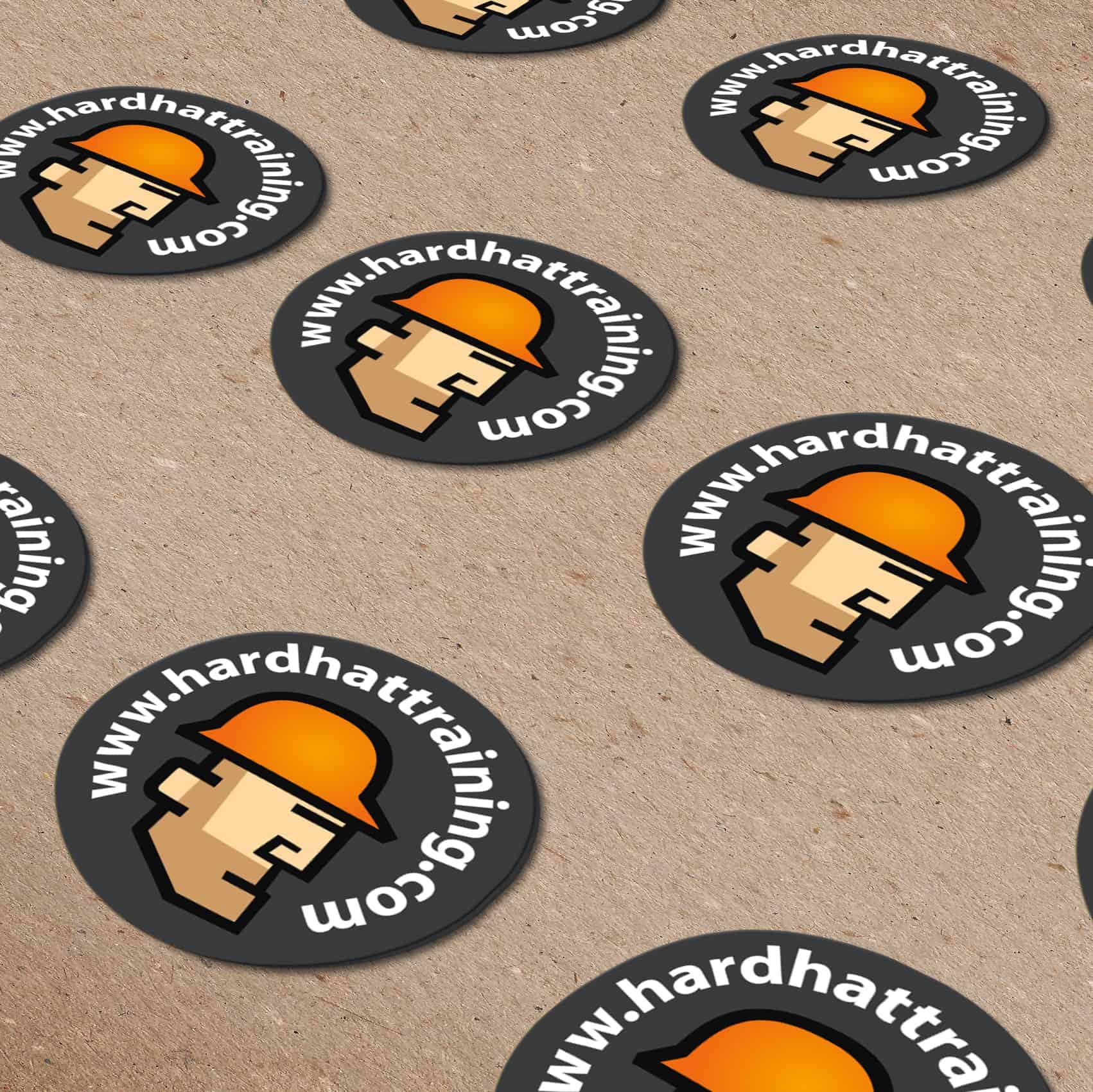 hard hat training stickers