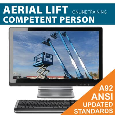 Aerial Lift (MEWP) Competent Person Online Training Course (Covers both boom and scissor lifts)