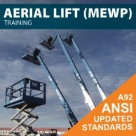 Aerial Lift Training/MEWP Training/AWP Training - Covers Scissor lift and boom lift training