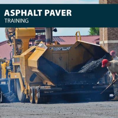 asphalt paver training certification