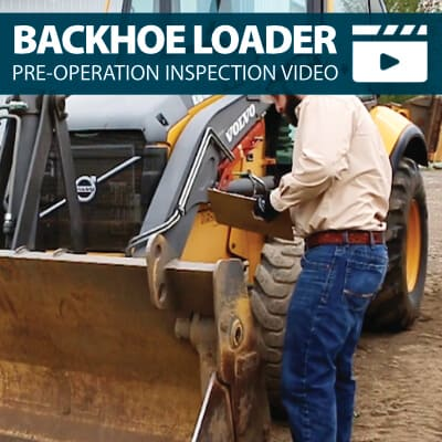 Backhoe Loader Pre-Operation Inspection Walkaround Training Video