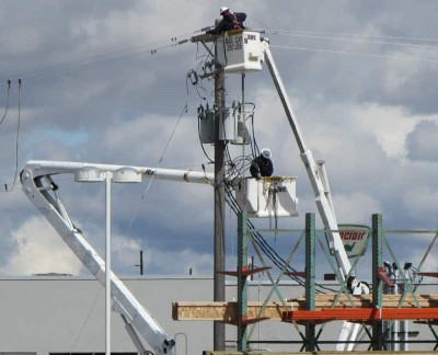 bucket truck poster, aerial lift poster