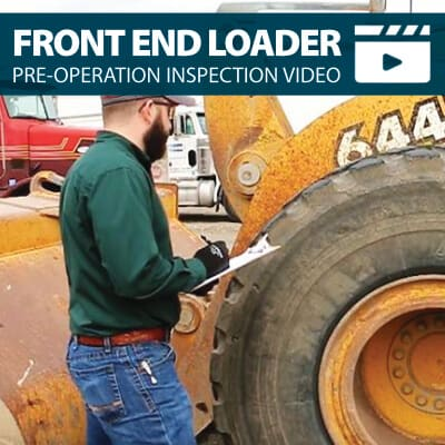 Front End Loader Pre-Operation Inspection Walkaround Training Video