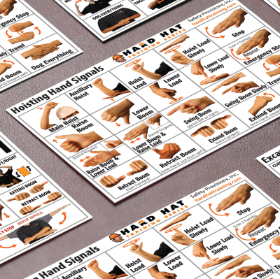 heavy machinery hand signal cards