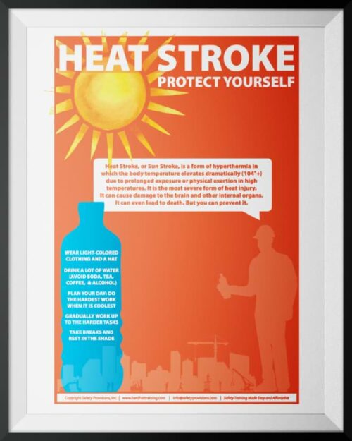Heat Stroke Safety Poster