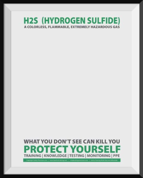Hydrogen Sulfide (H2S) Safety Poster
