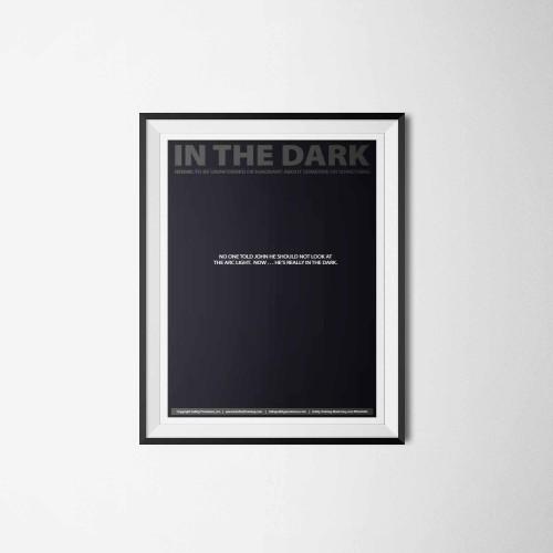 in the dark arc flash poster