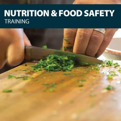 nutrition food safety training certification