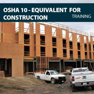 osha 10 construction training certification