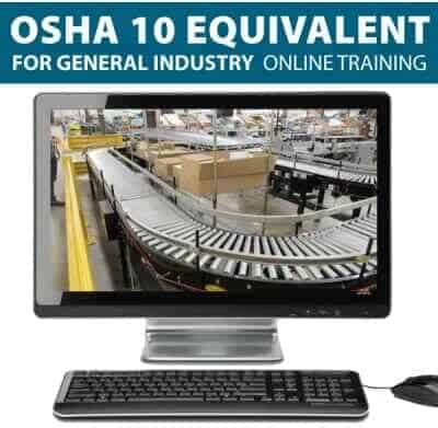 OSHA 10 Hour General Industry Online Training & Certification - No Expiration