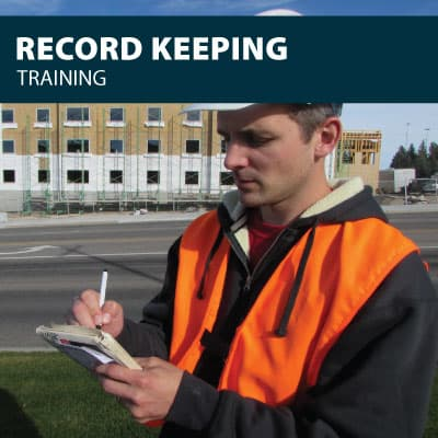 record keeping training certification