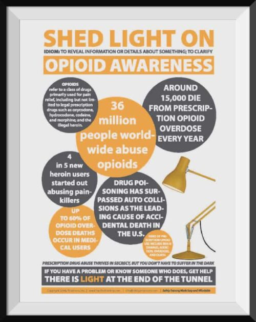 Opioid Awareness Safety Poster