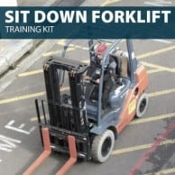 Sit Down Forklift Training Kit by Hard Hat Training