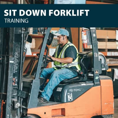 sit down forklift training certification