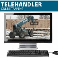 Telehandler Online Training to get your telehandler certificate and telehandler license (wallet card)
