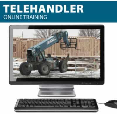 Telehandler Online Training to get your telehandler certificate and telehandler license (wallet card)
