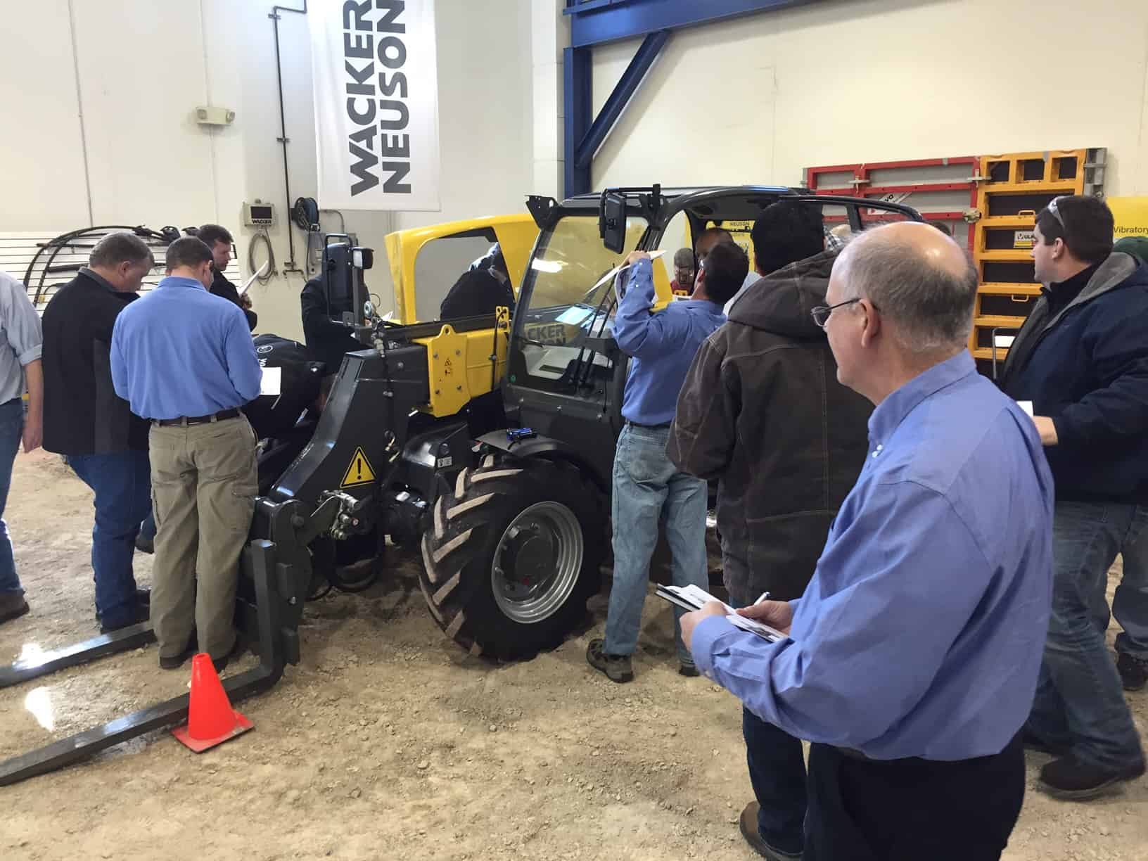 telescopic handler train the trainer class onsite